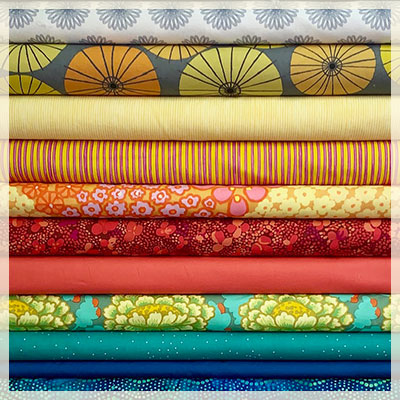 A wide variety of fabrics: